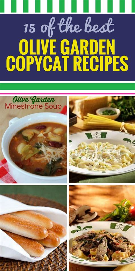 Garden Recipes by 15 Copycat Olive Garden Recipes And