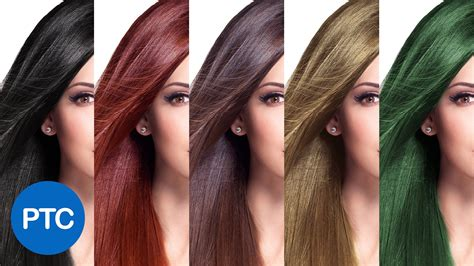 hair coloring how to change hair color in photoshop including black