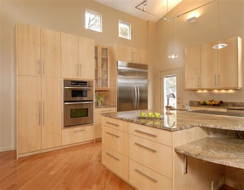 Kitchen Cabinet Furniture Light Maple Kitchen Cabinets Kitchen Contemporary With Bar Chair In