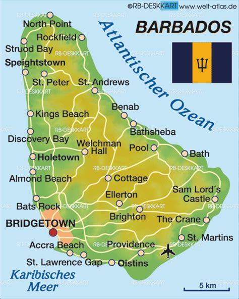 printable barbados road map map of barbados country welt atlas de