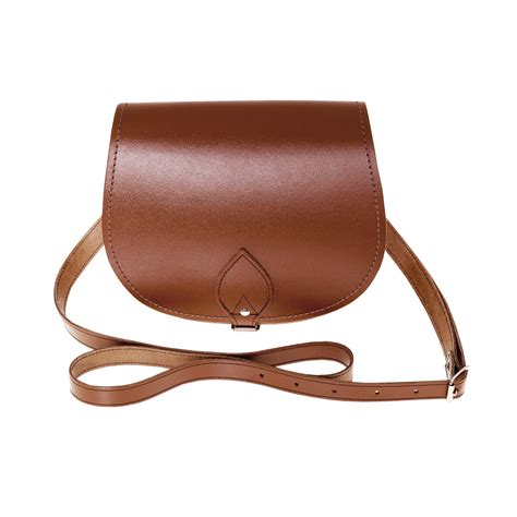 Handcrafted Leather Handbags - zatchels womens handcrafted leather saddle bag