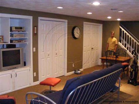 how to renovate a basement yourself basement remodel freedom builders remodelers