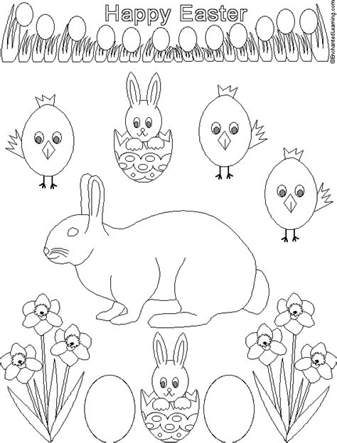 easter coloring pages for 2nd grade easter printout black and white enchantedlearning