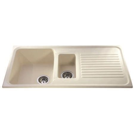 Asterite Kitchen Sink by Cda As2iv Asterite Composite Ivory 1 5 Bowl Sink