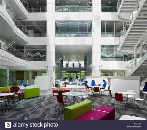thames valley park reading atrium lounge with seating in microsoft cus thames
