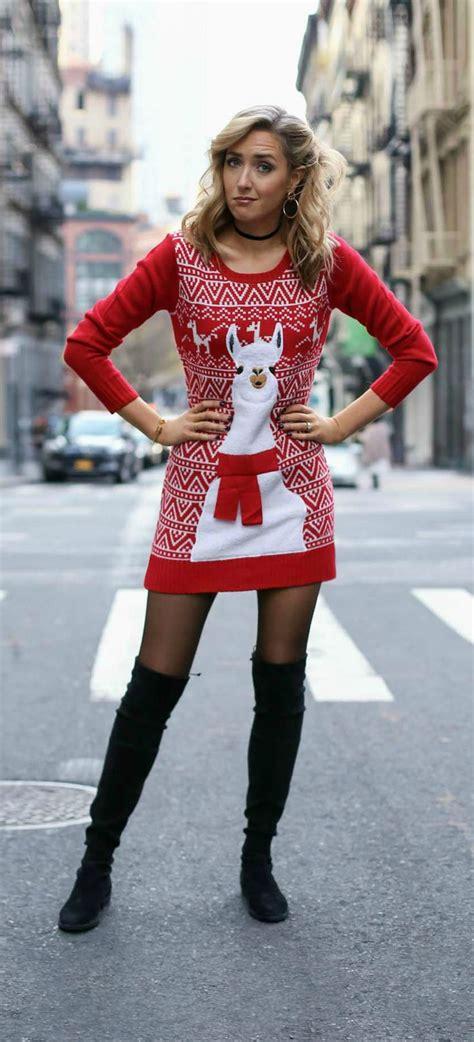 25 best ideas about christmas sweater dress on pinterest
