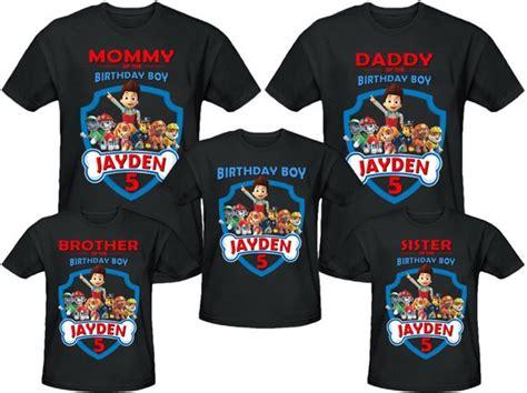 Paw Patrol Birthday Shirt Personalized Name And Age Customized Paw Patrol Birthday Shirt Template