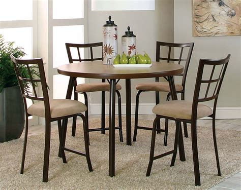 dining room pub sets suede chocolate brown steel bar set vision 5 pub