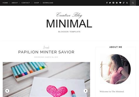 minimal clean blogger template 2017 free download