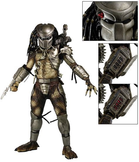 Toys Predator Parts predator 1 4 scale figure with leds necaonline