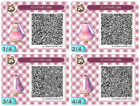acnl clothes guide animal crossing new leaf pink lolita dresses qr codes