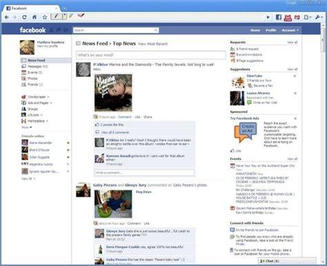 design home facebook 10 screenshots of the old facebook designs