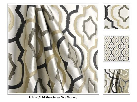 Raket Lining Ts 50 Ii 2 colors handmade polyester quatrefoil drapery panel curtain galatia collection 50 wide