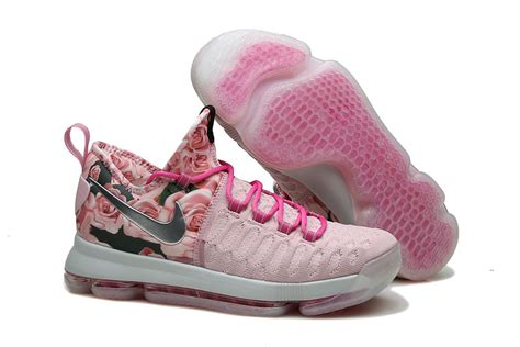 pink kd basketball shoes nike kd 9 pink flora pearl basketball shoes 2016 for