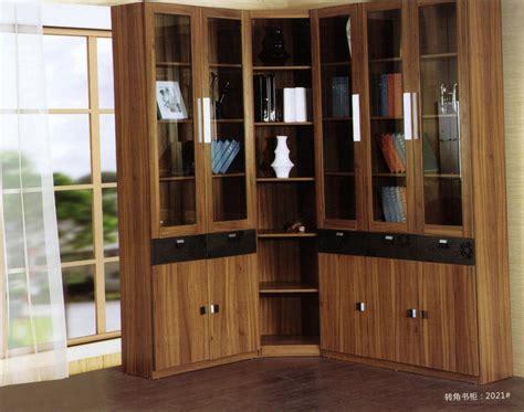 estantes para libros estante para libros angular de madera de la nuez moderna