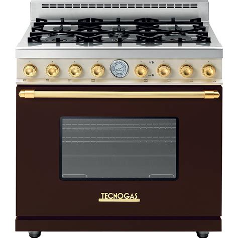 brown range tecnogas superiore 36 inch deco natural gas range with 6