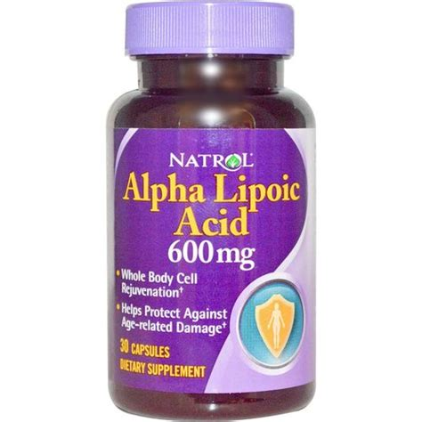 Alpha Lipoic Acid Detox Mercury by Natrol Alpha Lipoic Acid 600 Mg 30 Caps Evitamins
