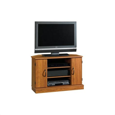 sauder tv stands sauder beginnings corner pecan tv stand ebay