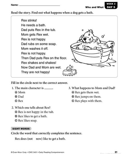 free printable english comprehension worksheets for grade 3 comprehension worksheets for grade 1 free daily reading
