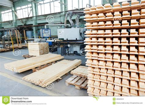 woodworking lumber supply wood lumber materials at plant stock photography