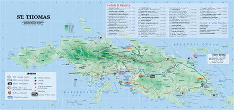 st vi map stock pictures top st beaches