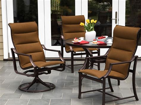windsor padded sling outdoor patio furniture tropitone