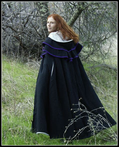 pattern for black cape winter cloak by kyndelfire on deviantart