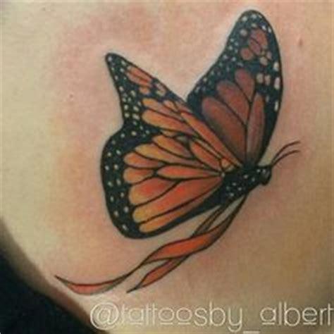 blue flowers and 3d butterfly tattoo tattoos pinterest