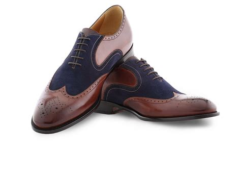 wingtip oxford shoes for wingtip oxford shoes in brown antique blue suede