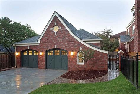 brick garages designs brick garage plans tasty ideas fireplace for brick garage
