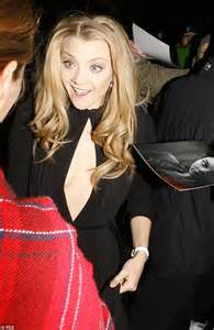 Natalie Weekly And Deal At Livenattycom by Natalie Dormer In Plunging Black Dress Slashed To Mid
