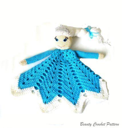 Baby Elsa Flower Blue crochet lovey pattern elsa frozen