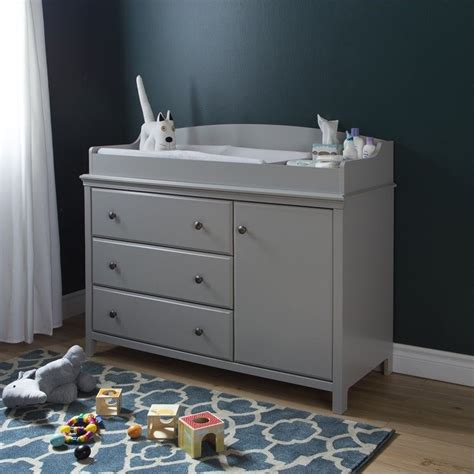 South Shore Change Table South Shore Cotton Gray Changing Table 9020333