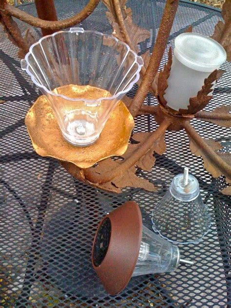 Make Your Own Diy Solar Chandelier Check Out Kat S Make Your Own Solar Light