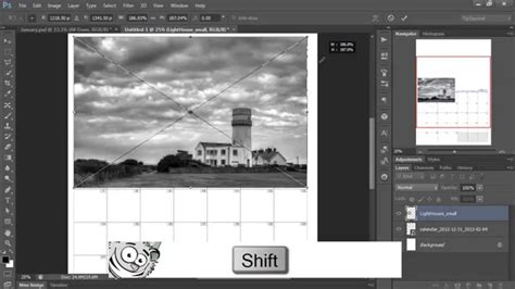 make a photo calendar an easy photo calendar in photoshop
