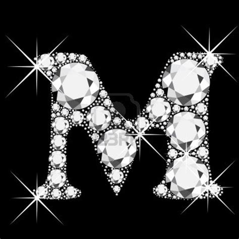 M Letter With Diamonds Bling Bling Royalty Free Cliparts ... M Letter In Diamond