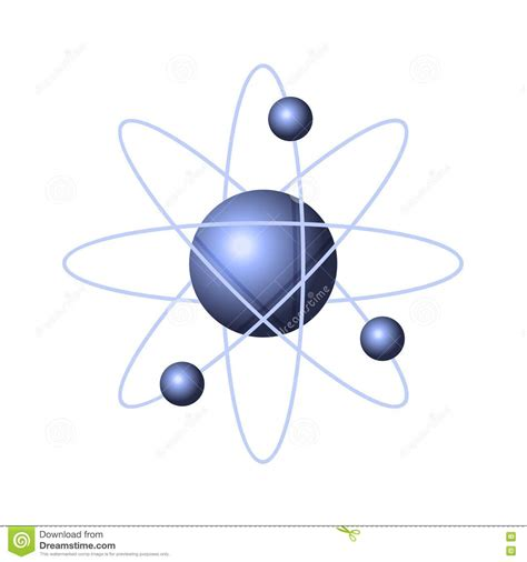 Atom Model Vector Clipart model of abstract atom structure vector stock vector