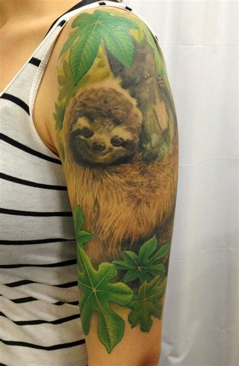 sloth tattoo winsols tattoos best 15 relaxing sloth tattoos