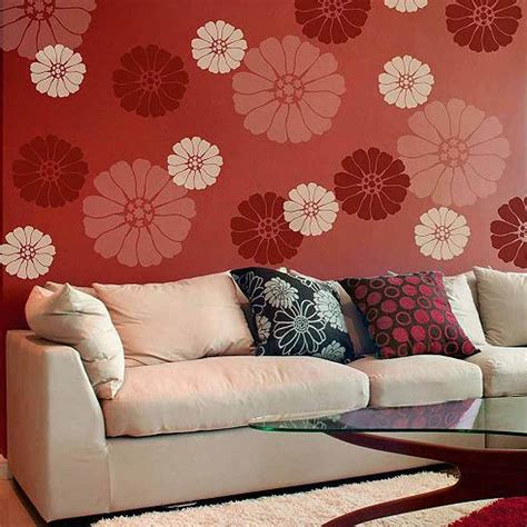 floral wall stencils for bedrooms lovely bloom floral wall art stencil extra small easy