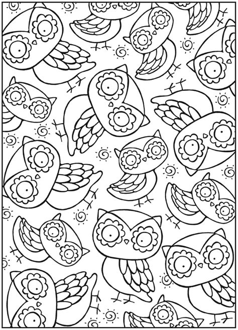 coloring page for adults owl free coloring pages of adult owls