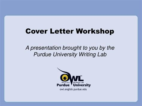 Cover Letter For Ppt Ppt Cover Letter Workshop Powerpoint Presentation Id