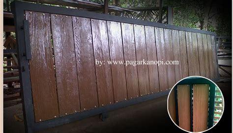 Lisplang Grc 30 Cm model pagar rumah minimalis dengan batu alam gambar om