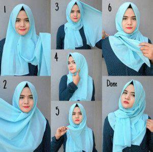 tutorial hijab menutup dada 12 tutorial hijab menutup dada untuk kebaya terbaru dan
