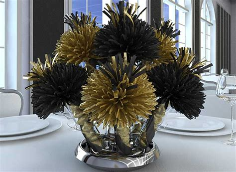 black and gold centerpieces for tables bar mitzvah and bat mitzvah centerpieces and favors