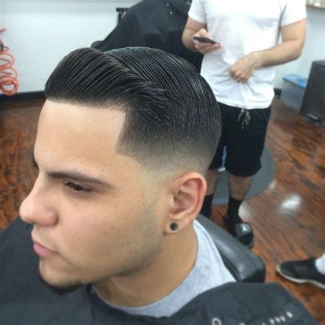 popeye in hair cutups tight low fade with combover and crisp line up men