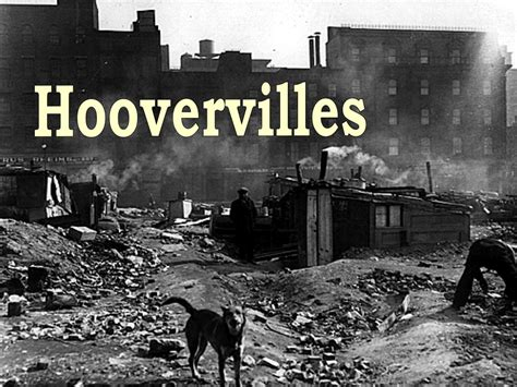 The Great hoovervilles