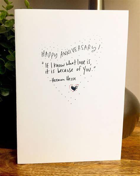 1st Wedding Anniversary Keepsake Card Vintage PAPER Handmade