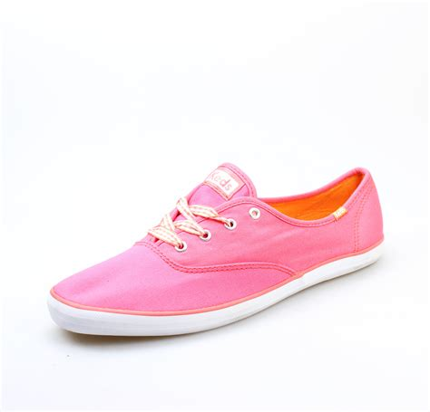 keds new pink shoes size 10m chion canvas lace up