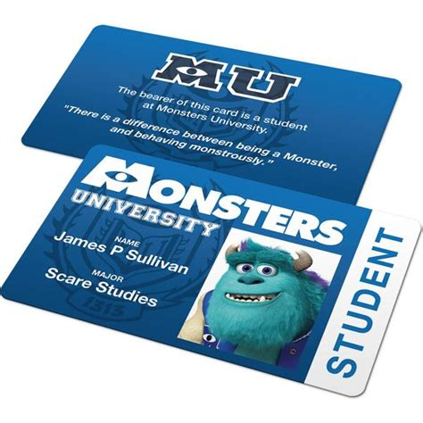 Monsters Student Card Template by Custom Id Card Monsters Student Badge
