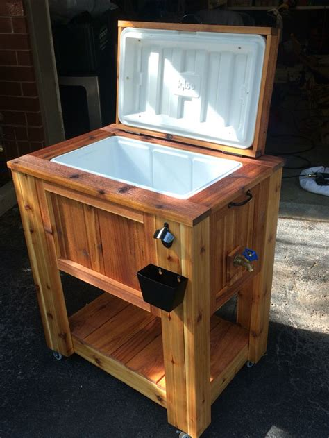 Cedar ice chest cooler wood projects pinterest ice chest cooler deck cooler and patio cooler